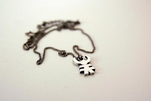 Little Man Pendant Necklace, Tribal Talisman Pendant