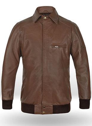 Hunter Bomber Leather Jacket