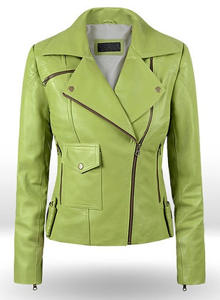 Bright Green Leather Jacket