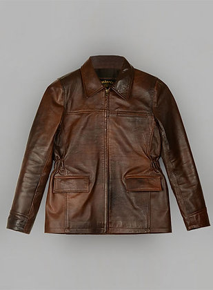 Faded Brown Leather jacket