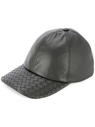 Basket Style Leather Cap