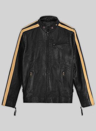 Yellow Strip Leather Jacket