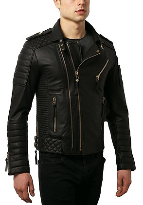 Elegant Quilted Leather Jacket