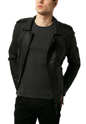 Elegant Black Leather Jacket