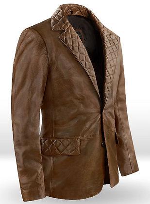 Spanish Brown Harper Leather Blazer