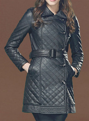 Quilted Trench Long Coat