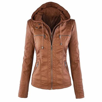 Hoodey Leather Jacket
