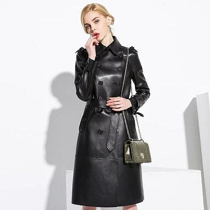 Stylo Leather Long Coat