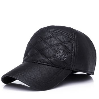 Crocodile Quilted Leather Cap