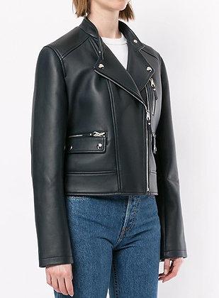 Biker Leather Jacket With Belt