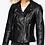 Thumbnail: Black Biker Leather Jacket