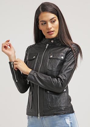 Four Pocket Leather Jacket