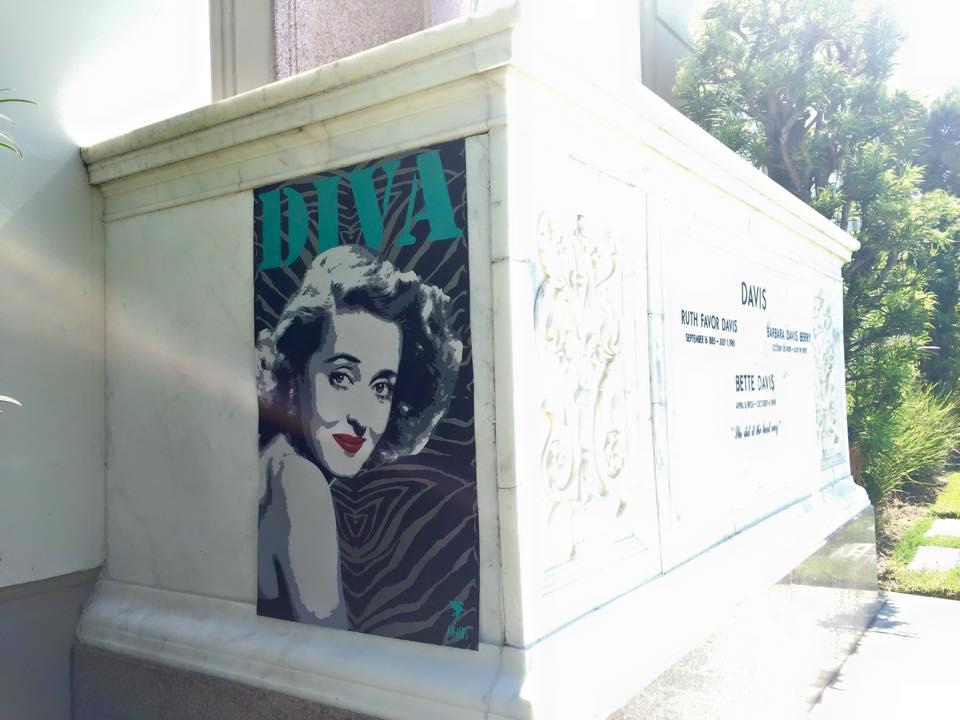 Bette Davis Grave, LA
