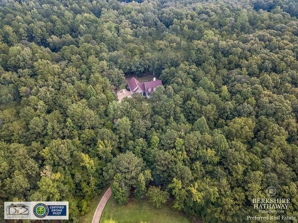Drone photography by The DuBose Group, Auburn Realtors, Opelika Realtors.