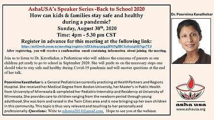 Back to School during a pandemic- Flyer