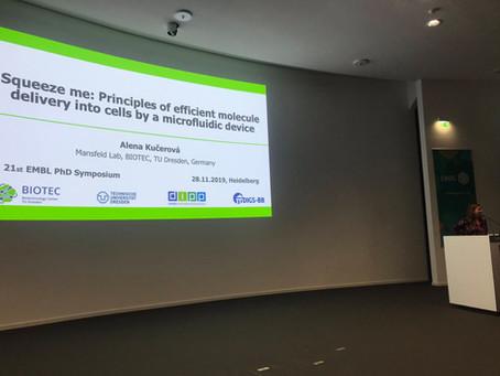 Ali presenting at the 21st EMBL PhD Symposium