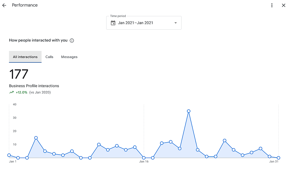 Google My Business Insights Example