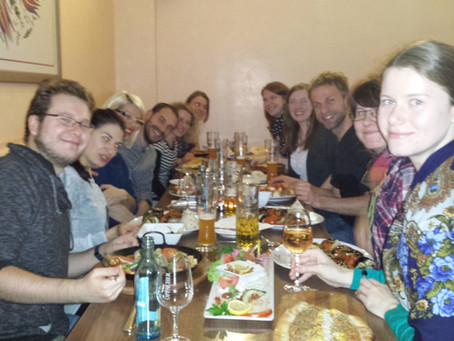 The Mansfelds celebrating Igor's 3.5 year TAC