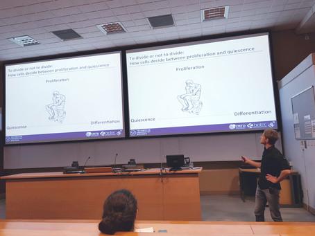 Joerg gives a talk at University of Cambridge