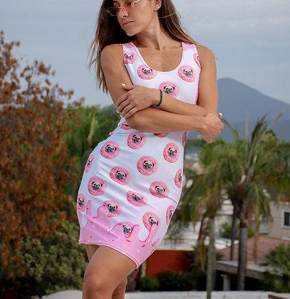 Pug Strawberry Dress