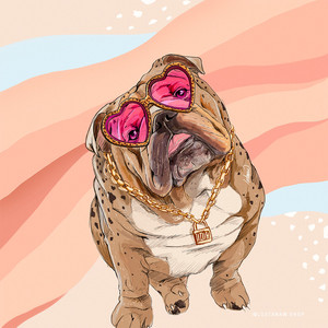 Bulldog-Illustration-Art-Print-by-Lostan