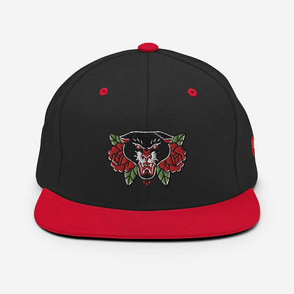 Panther Roses Snapback Hat