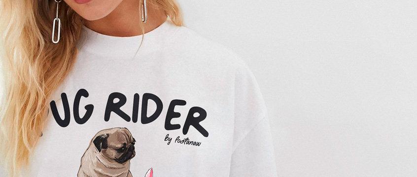 Pug Rider Unisex T-Shirt