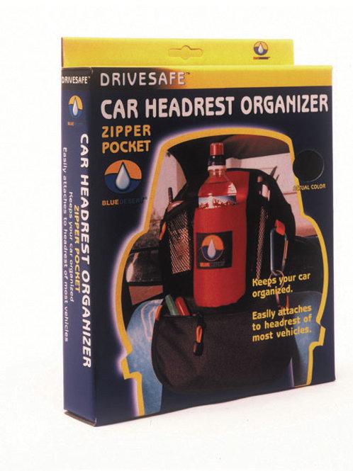 DriveSafe® - Car headrest organizers/zipper pocket
