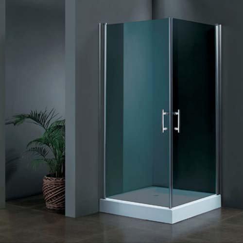 מקלחון פינתי זכוכית כהה