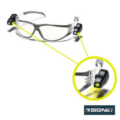 Signet משקפי מגן + תאורת לד בצידי המשקף