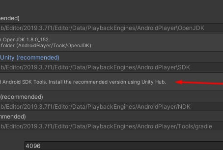 Unity 2019.3 Android sdk tool installed with unity is not installed