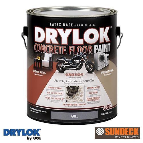 צבע לבטון על בסיס מים מגוון DRYLOKגלון