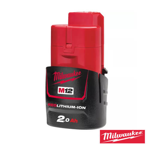סוללה MILWAUKEE M12 B2 12V 2AH