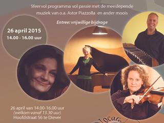 Concert zondagmiddag 26 april