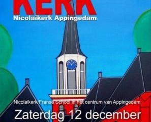 Optreden viool en accordeon tijdens 'Kunst in de Kerk 2015', Appingedam