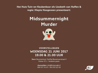 Cursisten te beluisteren tijdens 'Midsummernight Murder'