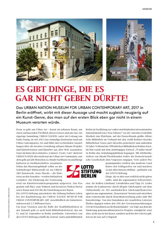 Anzeige LOTTO Stiftung Berlin