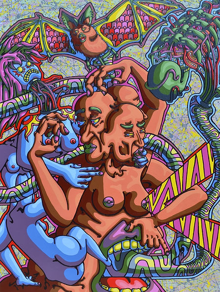Lowbrow, painting, August Oster, pop surrealism, cartoon, artist, psychadelic, surreal, Eliskraul the Source