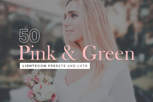 50 Pink & Green Lightroom Presets and LUTs