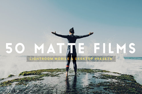 50 Matte Film Lightroom Presets LUTs
