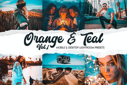 Orange & Teal -15 Premium Lightroom Presets