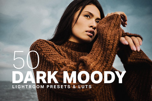 50 Dark Moody Lightroom Presets LUTs