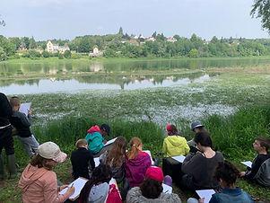 lecture de paysage avec les enfants bord