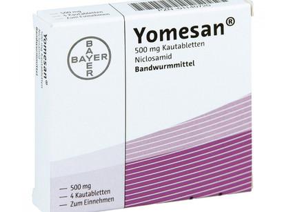 요메산 yomesan 독일 해외직구 구매와 니클로사마이드 구충제