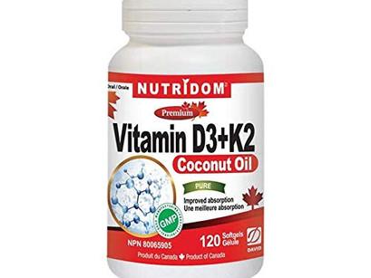 비타민 D3 K2 효능 캐나다생산 직발송 뉴트리돔 Nutridom Vitamin D3+K2