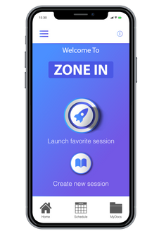 Zone In - Home Screen