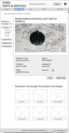 MGBD - Product Page