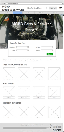 MGBD - Store Home Page