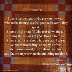 Shamed Deborah Joan Jones