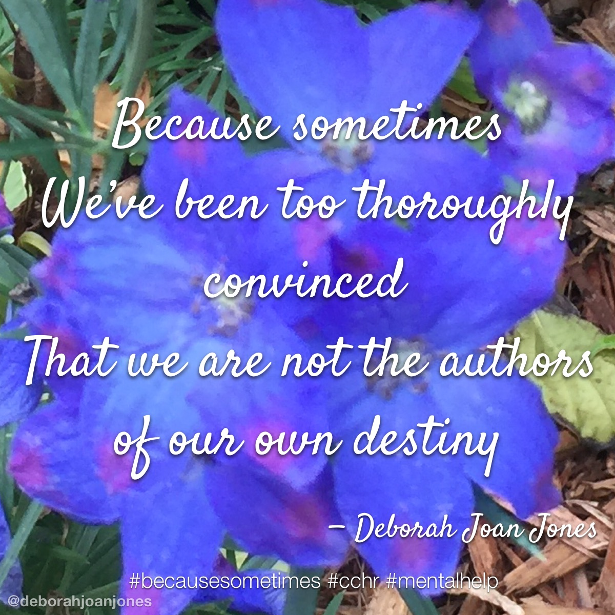 We've been too thoroughly convinced that we are not the authors of our own destiny.
